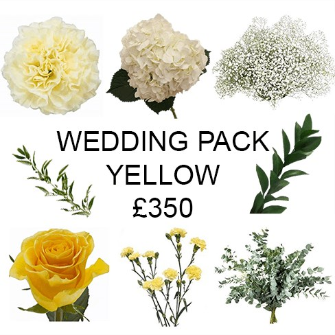 Wedding Flower Pack Yellow £350