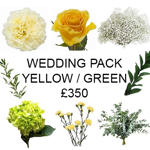 Wedding Flower Pack Yellow & Green £350