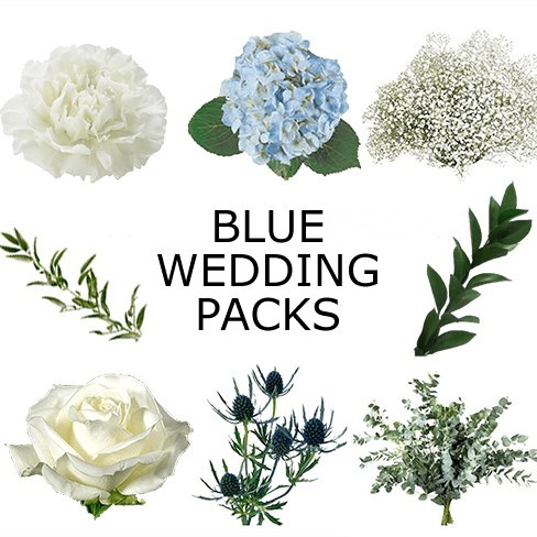 Wedding Flower Packs - Blue