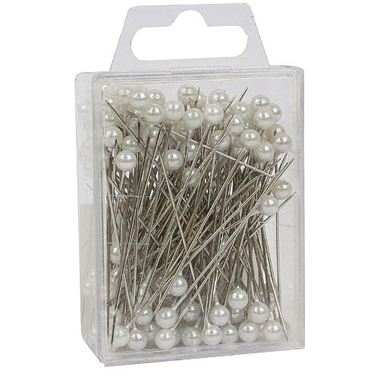 White Pearl Headed Corsage Pins 5cm
