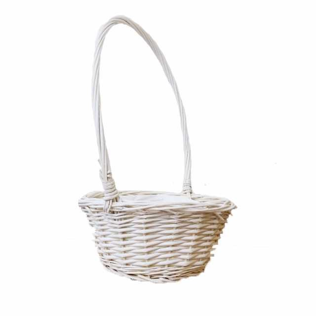 White Willow Basket - 20cm wide