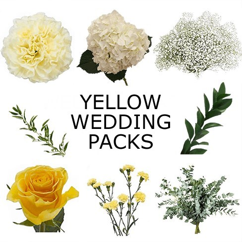 Wedding Flower Packs - Yellow