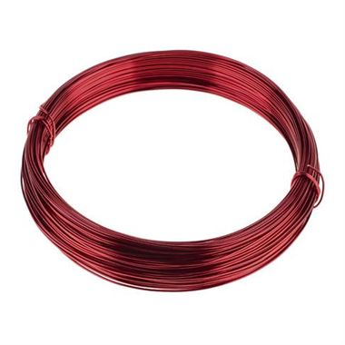Wire - Aluminium Metallic Red