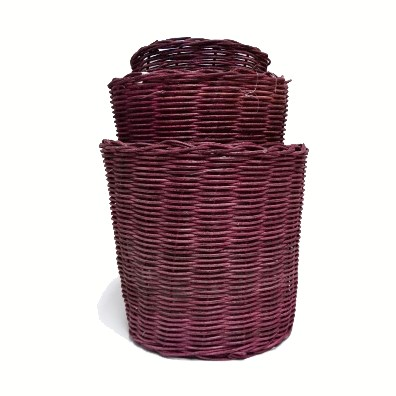Three-Stack Aubergine Willow Pots