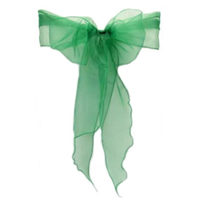 Organza Chair Sash - Emerald