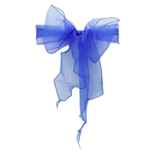 Organza Chair Sash - Midnight Blue