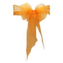 Chair Sash Organza - Orange