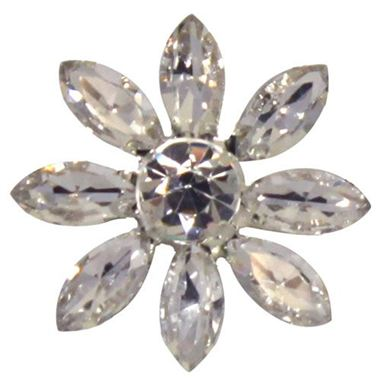 Crystal Flower Brooches 28mm