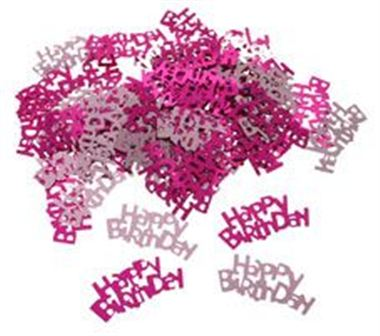 Table Confetti - Happy Birthday Pinks