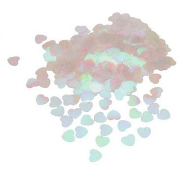 Table Confetti - Iridescent Hearts