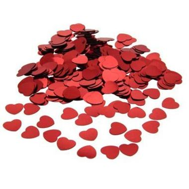 Table Confetti - Red Hearts
