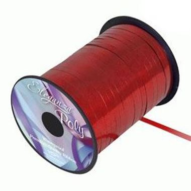 Ribbon Curling Metallic Red - 5mm
