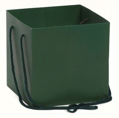 Hand Tied Gift Bag - D Green 17x17cm