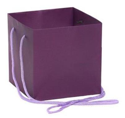 Hand Tied Gift Bag - Purple 17x17cm