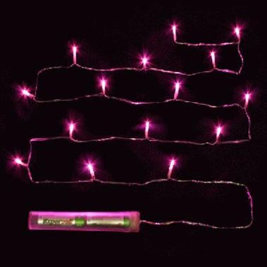 Decor Lites Submersible - Fucshia 15 Light Set