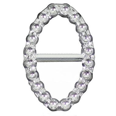 Diamante Oval Buckles 37mm