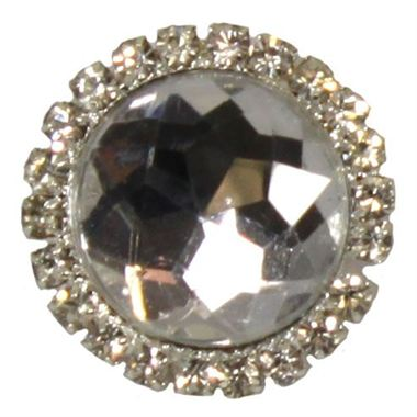 Gem Stone Brooches 22mm