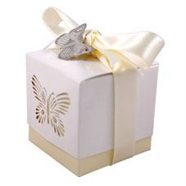 Favour Box - Ivory Butterfly