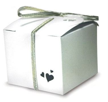 Favour Box - Square Pearl White