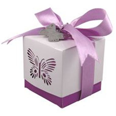 Favour Box - Purple Butterfly