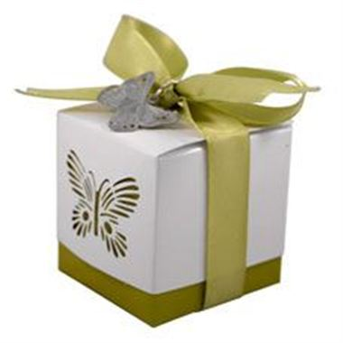 Favour Box - Sage Butterfly