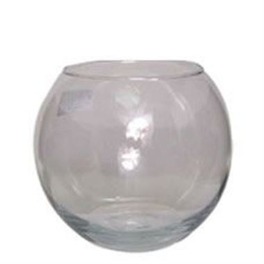 Glass Fish Bowl Vase - 10 x 8cm