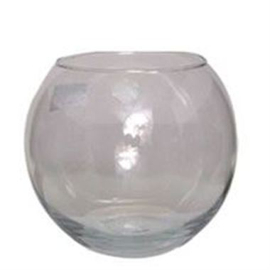 Glass Fish Bowl Vase - 12.5 x 10cm