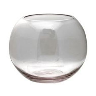 Glass Fish Bowl Vase - 18 x 14.5cm