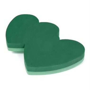 Floral Foam Heart Double Solid 18""