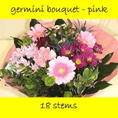 Bouquet Germini Pink - 18 stems