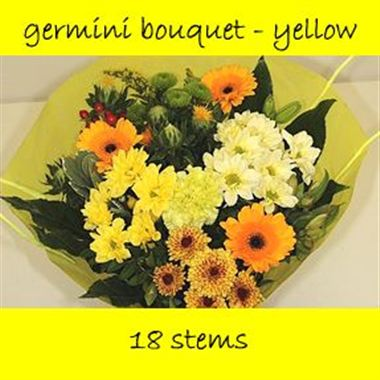 Bouquet Germini Yellow - 18 stems