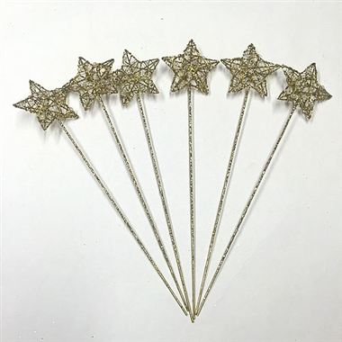 Star Wand Gold (x6)