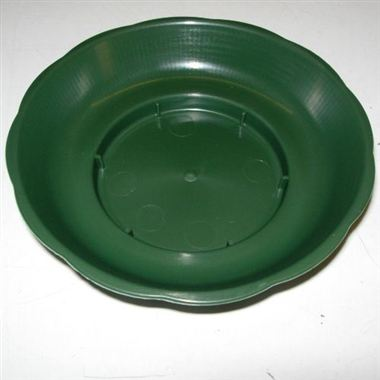 Plastic Floral 'O' Saucers Green