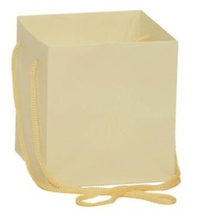 Hand Tied Gift Bag - Cream 17x17cm
