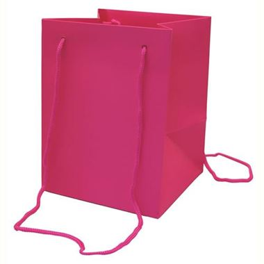 Large Hand Tied Gift Bag - Cerise 19x25cm