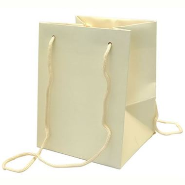Large Hand Tied Gift Bag - Ivory 19x25cm