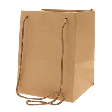 Large Hand Tied Gift Bag - Kraft 19x25cm