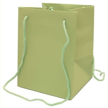 Large Hand Tied Gift Bag - Sage 19x25cm