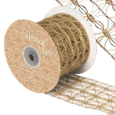 Ribbon Hessian Lace - 70mm