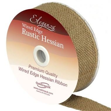 Ribbon Hessian Natural - 32mm
