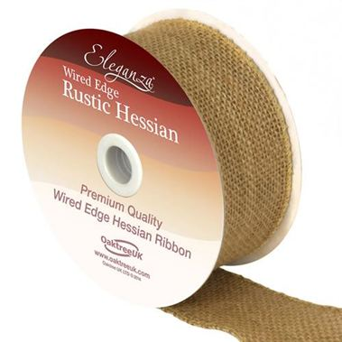 Ribbon Hessian Natural - 50mm
