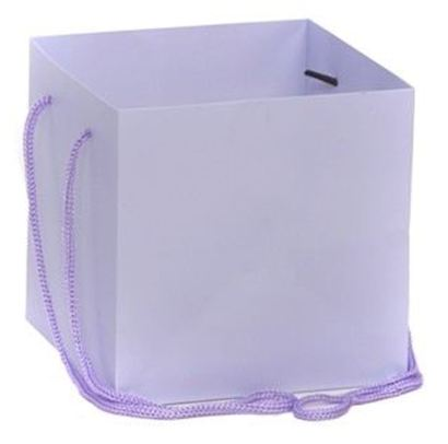 Hand Tied Gift Bag - Lilac 17x17cm