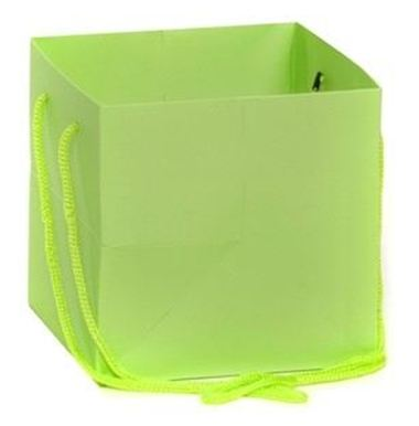 Hand Tied Gift Bag - Lime 17x17cm