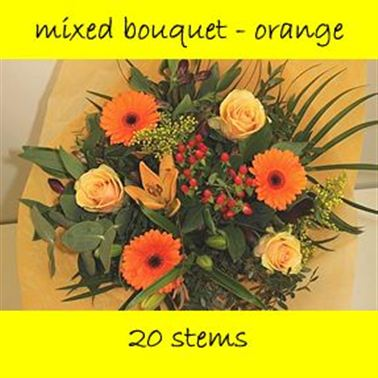 Bouquet Mixed Orange - 20 stems