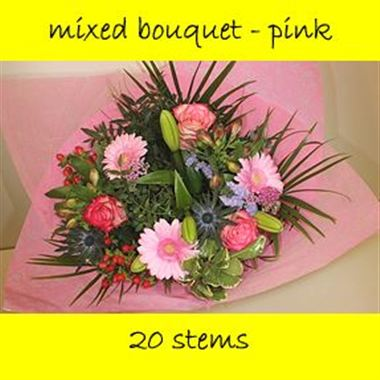 Bouquet Mixed Pink - 20 stems