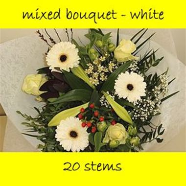 Bouquet Mixed White - 20 stems