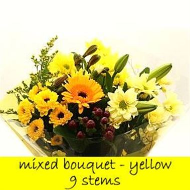 Bouquet Yellow - 9 stems