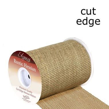 Ribbon Hessian Rustic Roll 15.2cm x 9.1m (cut edge)