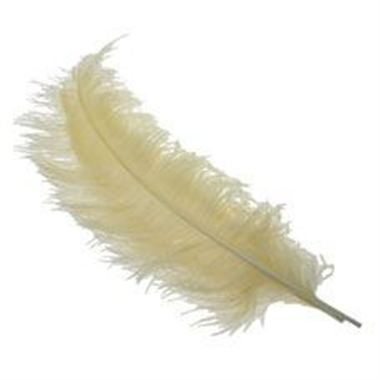 Ostrich Feathers - Cream