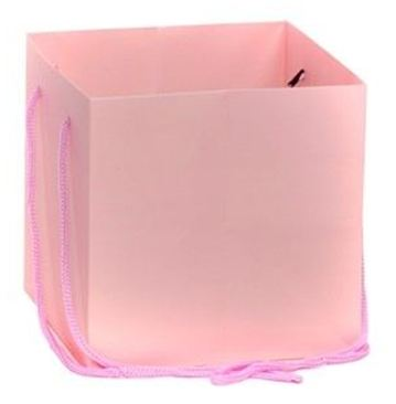 Hand Tied Gift Bag - Pink 17x17cm